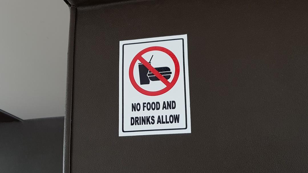 no food drink